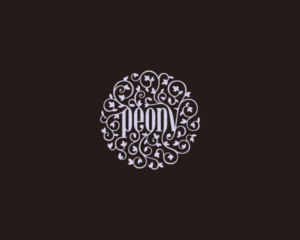 Peony Logo Design