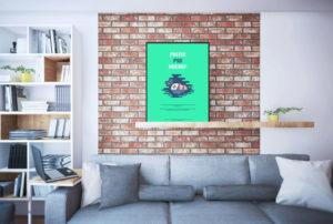 poster shelf pds mockup