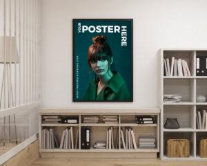 Free Creative Interior Poster Mockup For Designers 2018
