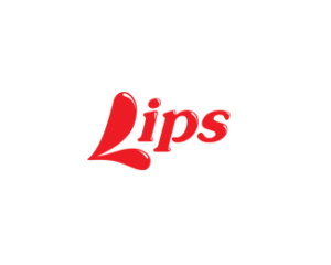 Lips red logo design