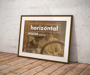 vintage mockup psd poster