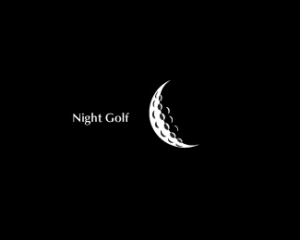night golf logo design idea