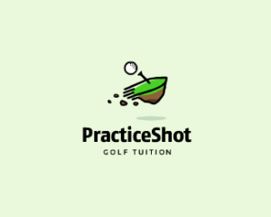 Practice shot golf tuition logo