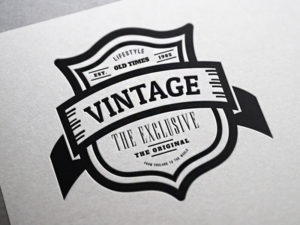 Vintage Logo Design badge