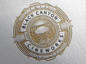 Black Canyon Cineworks vintage logo design embossed