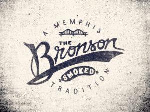 bronson canvas grainy vintage logo design