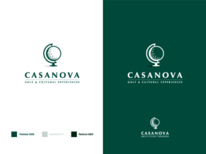 casanova golf logo design idea