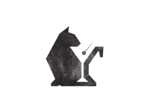 black cat logo design