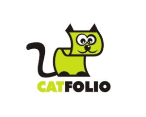 cat folio logo design