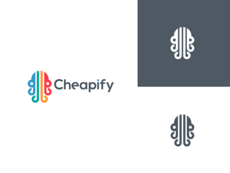cheapify octopus logo design