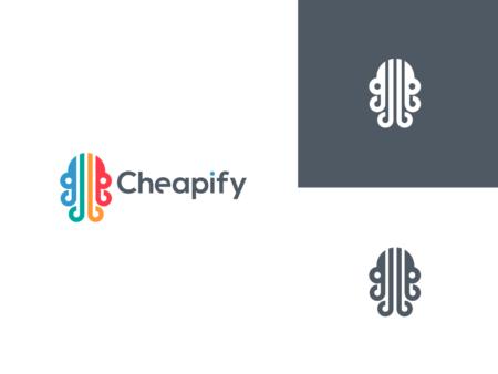 cheapify octopus logo design