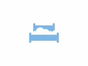 cloud bed minimalist logo design