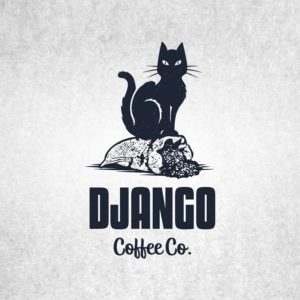 django-coffee cat logo design
