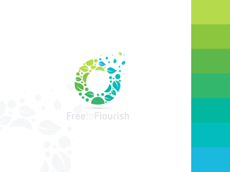 free to flourish eco leafs logo