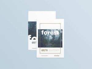 forest poster mockup