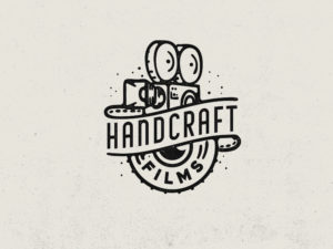 handcraft films old camera vintage logo design