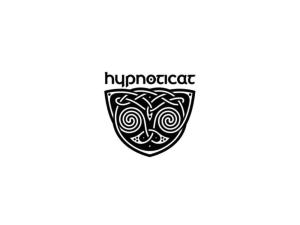 hypnoticat abstract cat logo design