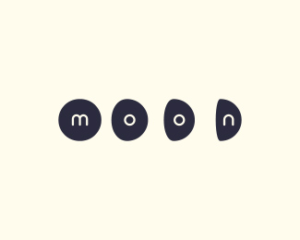 moon minimal logo design