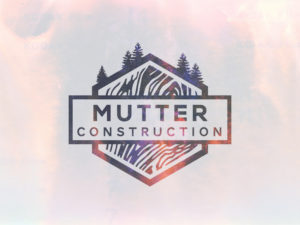 Mutter Construction Vintage Logo Design