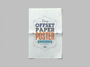 offset paper free psd mockup