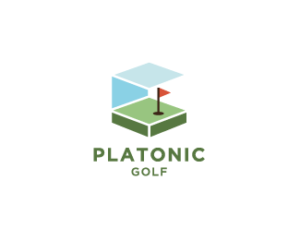 platonic golf logo design idea