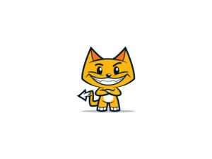 smiling cat logo design
