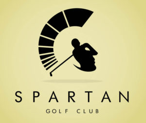 spartan golf logo design idea