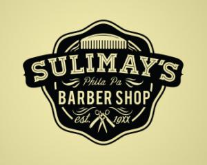 Sulimay's Barber Shop Vinatage Logo Design