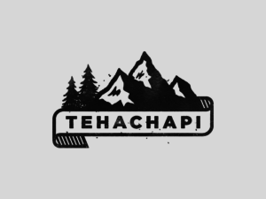 tehachapi mountain vintage logo design black and white