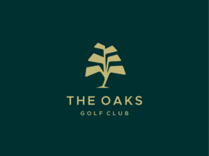 the oaks golf club logo design idea