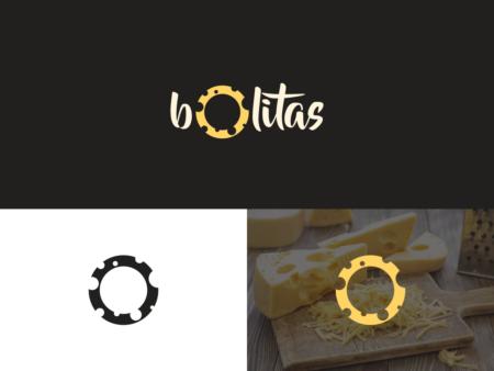 cheese logo design bolitas