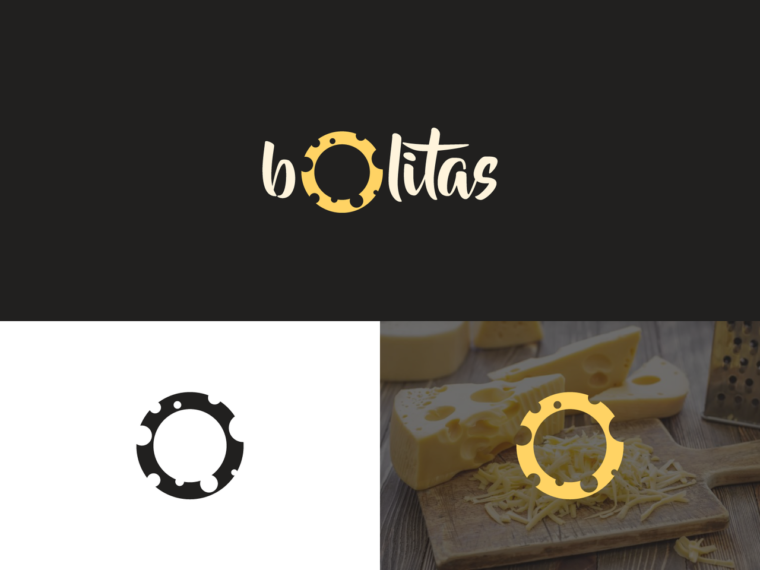 cheese logo design bolitas