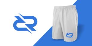 RR logo sport brand shorts