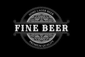 vintage beer label logo design