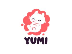 yumi cute baby cat logo